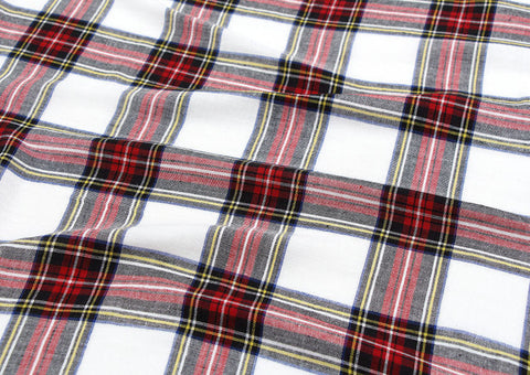 Cotton Double Gauze Plaid - Red - By the Yard 75231 GJ