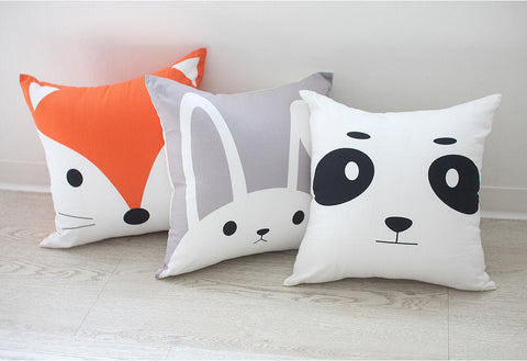 Animal Fabric Panel, Cushion Making Fabric - Fox, Bunny, Panda Bear - By the Cut 94077 (FEATURED!)