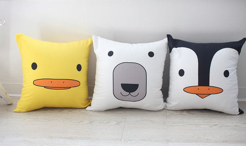 Animal Fabric Panel, Cushion Making Fabric - Duck, Polar Bear, Penguin - By the Cut 94078 (FEATURED!)