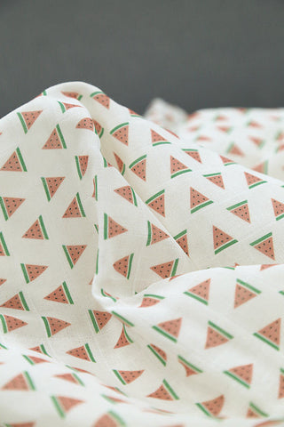 Watermelon Cotton Double Gauze Fabric - 59 Inches Wide - By the Yard 92515