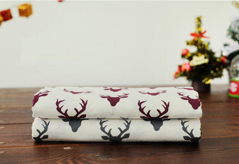 Deer Cotton Fabric - Gray or Reddish Purple - By the Yard 94559