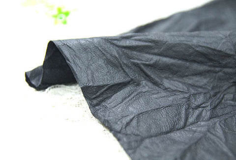 Fake Leather Fabric, Imitation Leather, Artificial Leather, Synthetic Leather Fabric - Black - 55 Inches Wide - By the Yard 83628