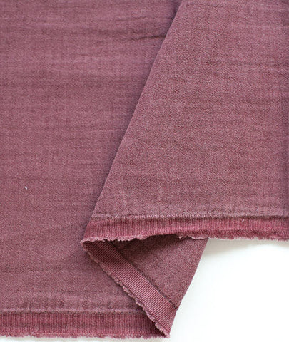 Wine Wrinkled Cotton Gauze, Double Gauze, Wine Color Gauze - 59