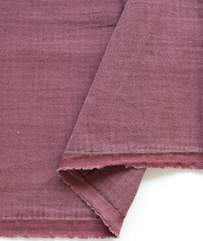 Wine Wrinkled Cotton Gauze, Double Gauze, Crinkle Gauze, Yoryu Gauze, Wine Color Gauze - 59