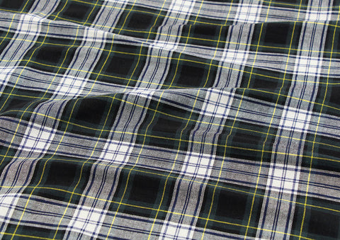Cotton Double Gauze Plaid - Green - By the Yard 75230 GJ