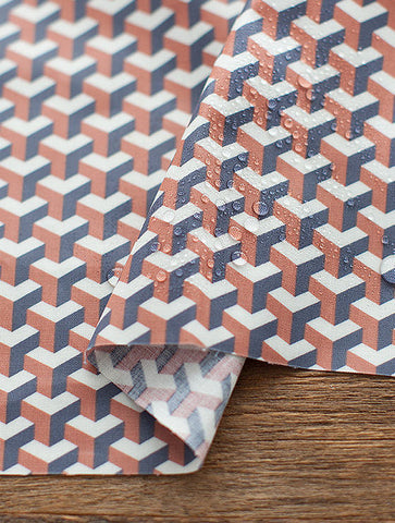 Geometric Laminated Cotton Fabric, Geometric Laminates - By the Yard 93448