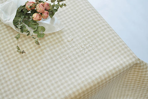 Laminated Linen Fabric - 4mm Checkered - By the Yard 94550