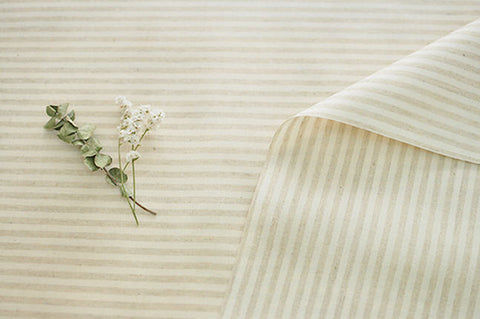 Laminated Linen Fabric - 4mm Stripe - By the Yard 94551