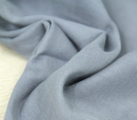 (NEW!) Gray Cotton Gauze, Double Gauze Fabric, Solid Gauze - 57