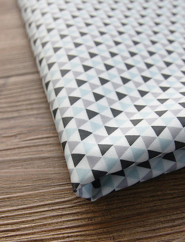 (NEW!) Mini Triangle Laminated Cotton Fabric - By the Yard 61873
