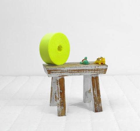 4cm Neon Yellow Cotton Jersey Knit Large Roll Bias - 21.5 Yards by the Roll - 91883