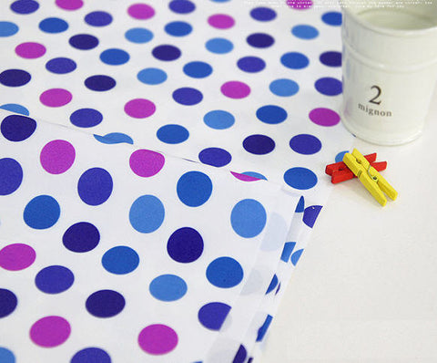 Waterproof Blue tone Dots By the Yard 43975 GJ