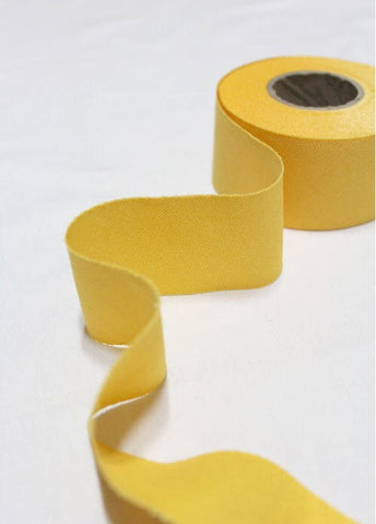 4 cm Oxford Cotton Bias Tape in Spring Flower Yellow - 12 yards - By the Roll - 91226