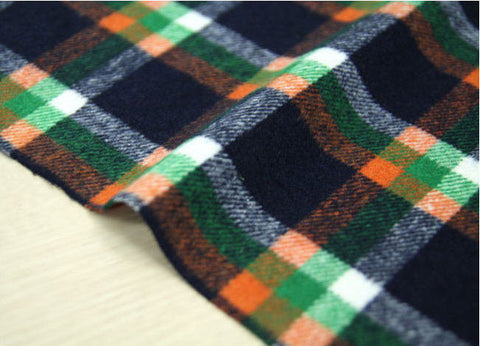 (NEW!) Wool Blend Plaid Fabric - By the Yard 95958