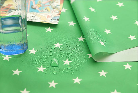 Stars Green Waterproof Fabric 59 Inches Wide - Fabric By the Yard 96978