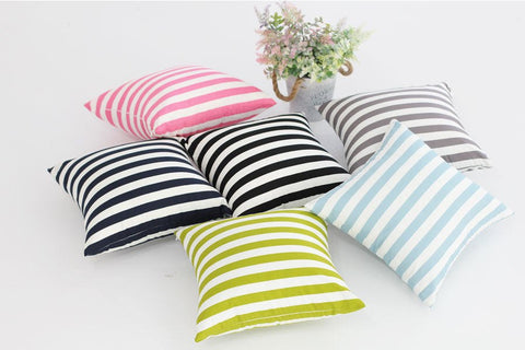 2 cm Stripes Cotton Fabric, Mint, Pink, Green, Gray, Navy or Black - By the Yard 87515