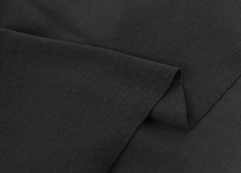 Black 1x1 Ribbing and Binding Knit Fabric, by Half Yard 77057