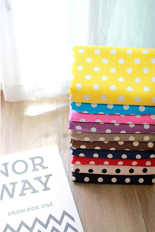 1 mm Polka Dots Oxford Cotton Fabric - Choose from 10 colors - By the Yard 100707