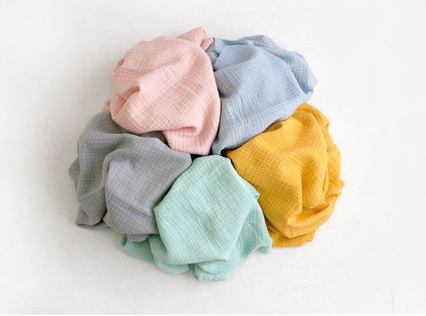 Cotton Double Gauze, Crinkle Gauze, Yoryu Gauze in 5 Colors - By the Yard 14036-1