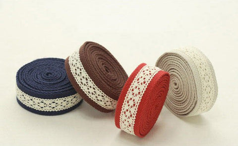 (NEW!) 2 Yards, Lace Webbing Strap, Bag Webbing Strap, Purse Strap - Navy, Brown, Red or Beige - GJ 67273