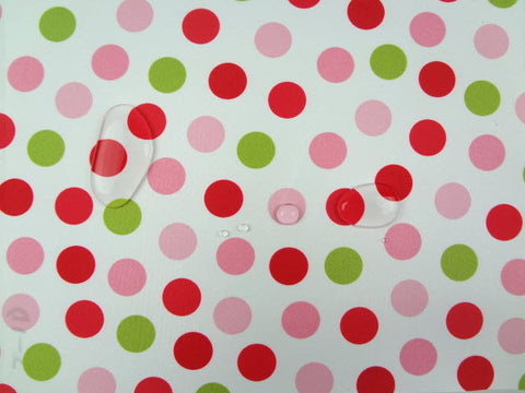 Waterproof Pink tone Dots per Yard WM