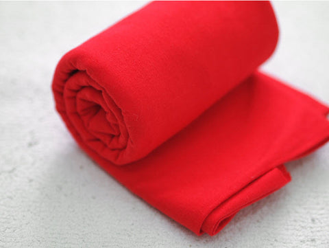 Christmas Color Red  - Tubular Solid Jersey Knit Fabric per Yard - 14874 - 170