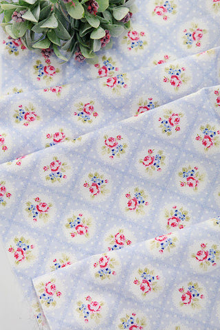 Cotton Fabric Falling In Love Sky Blue per Yard 24993