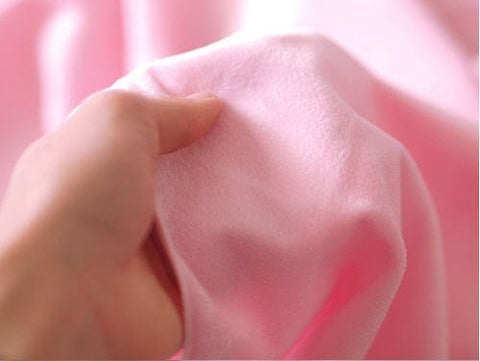 1 mm Smooth Cuddle Minky Fabric Light Pink per Yard 49308