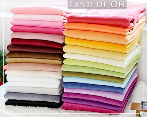 By the Yard - 1 mm Smooth Cuddle Minky Fabric Choose from 31 Colors By the Yard - 66453