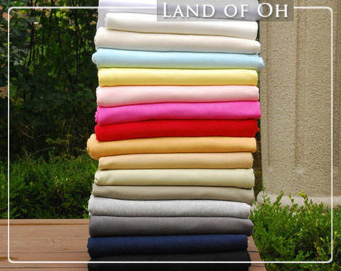 Cotton Interlock Knit in 16 Solid Colors per Yard 25526