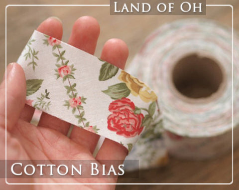 4 cm Cotton Bias by the roll Vintage Shabby Rose 13 Yards 28312