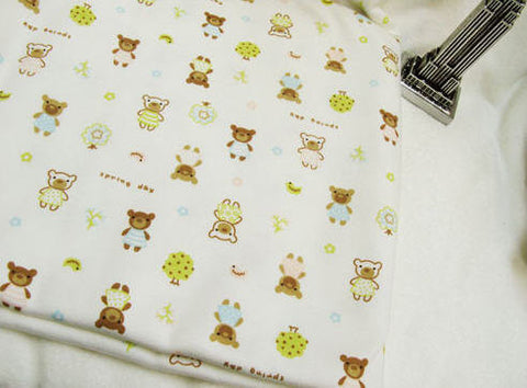Bear Friends and Trees Cotton Interlock Knit per Yard 33674