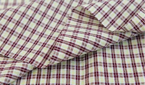 Cotton Seersucker 8 mm Plaid per Yard (43 x 36