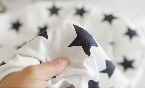 Cotton Jersey Stars - White - per Yard (59 x 36