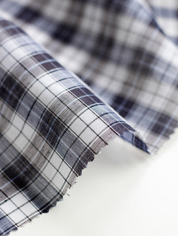 Linen Wool Blend Plaid per Yard 37841