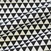 Mini Triangles Cotton Fabric - Black - By the Yard 38838