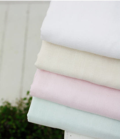 Wide Solid Cotton Gauze - Triple Layered - White Ivory, Natural, Light Pink or Light Green - By the Yard 38786