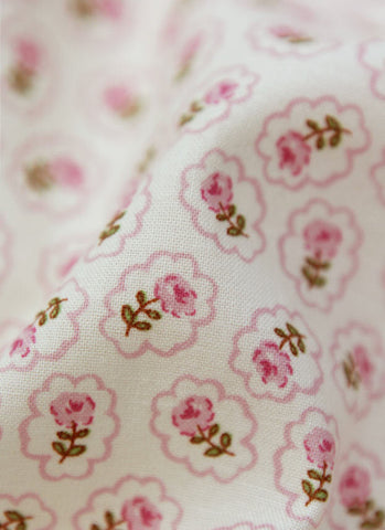 Cloud Flower Cotton Fabric - Pink - By the Yard 41808