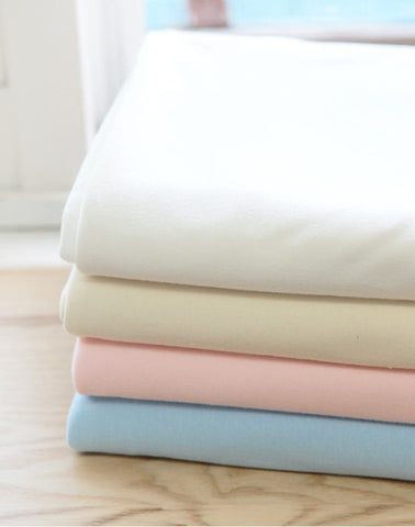 Organic Cotton Interlock Knit - White, Natural, Pink or Blue - By the Yard 42563