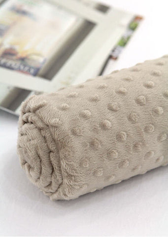 Minky Dimple Dot - Beige - By the Yard 43050 Melody Series