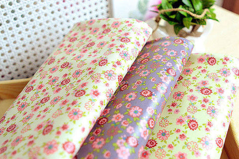 Waterproof Laminated Oxford Cotton Fabric Merry Flowers in 3 Colors by the Yard 43031
