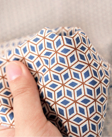 Cotton Fabric - Geometric Mini Cube - By the Yard 43465
