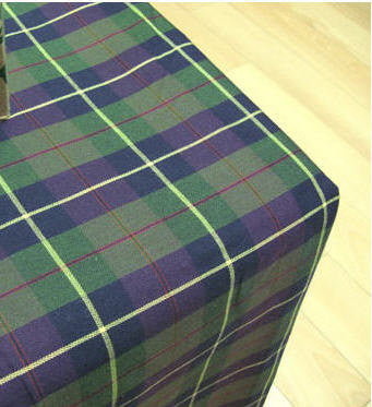 Yarn Dyed Cotton Fabric Green Purple Plaid - By the Yard 45984
