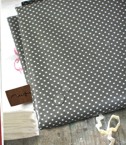Laminated Cotton Blend 2mm Tiny Dot Series in Grey 46214