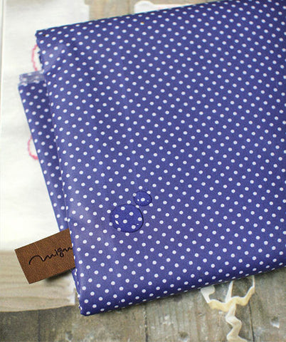 Laminated Cotton Blend 2mm Tiny Dot Series in Blue 46214
