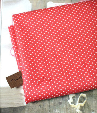 Laminated Cotton Blend 2mm Tiny Dot Series in Red 46214