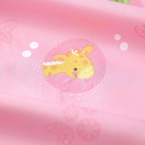 Laminated Waterproof Fabric Animal Friends - Pink - By the Yard 43967