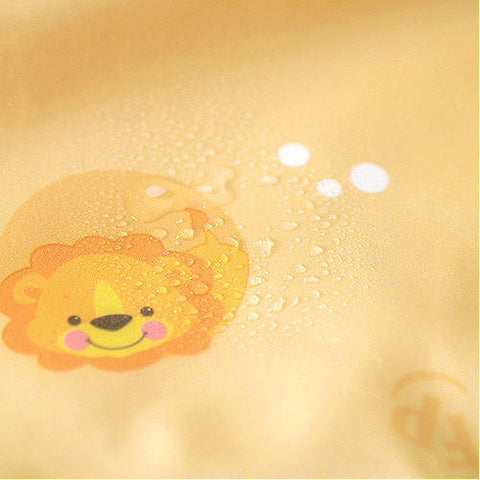 Laminated Waterproof Fabric Animal Friends - Mustard - By the Yard 43968