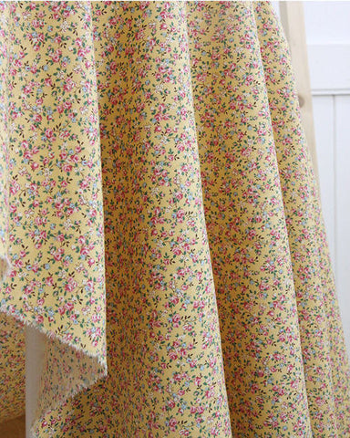 Cotton Linen Candy Flower - Yellow - 57