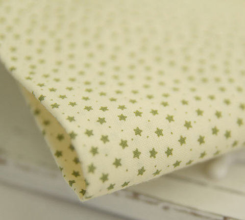 Cotton Fabric Mini Stars - Green - By the Yard 30109 - JK10410
